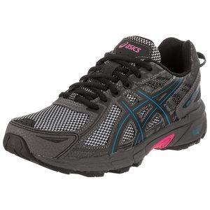ASICS Gel-Venture 6 Running-Shoes Gray/Pink 7.5